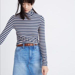 Madewell striped turtle neck top